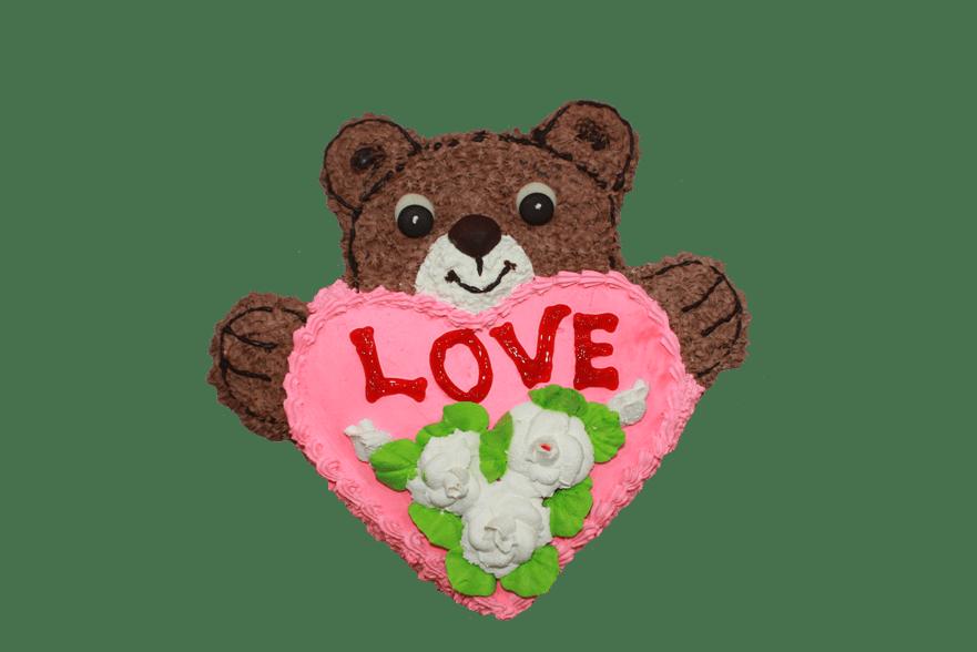 Торт Мишка с сердцем