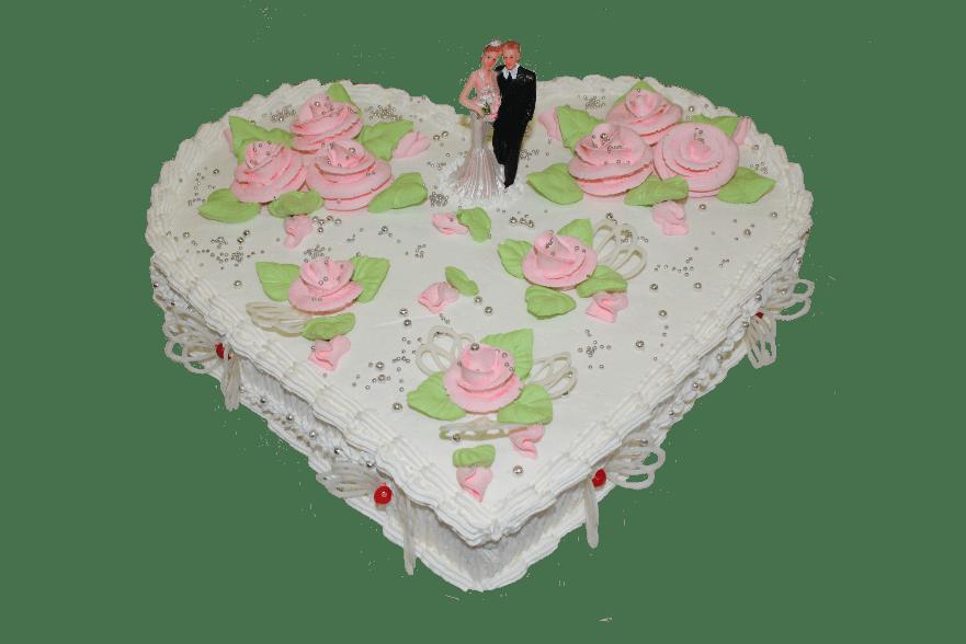 Торт свадебный Сердце